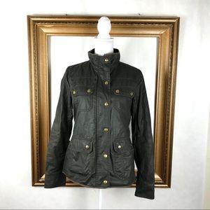 J. CREW downtown field jacket green waxed jacket